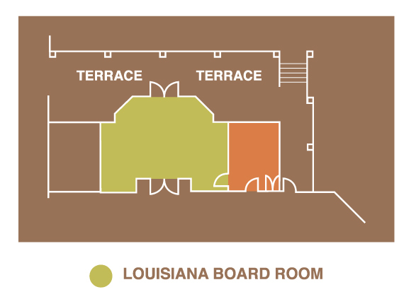 space layout louisiana board room